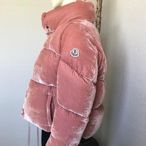 5274adaca3 Moncler Jackets & Coats | Cervis Cropped Velvet Puffer Down Coat ...